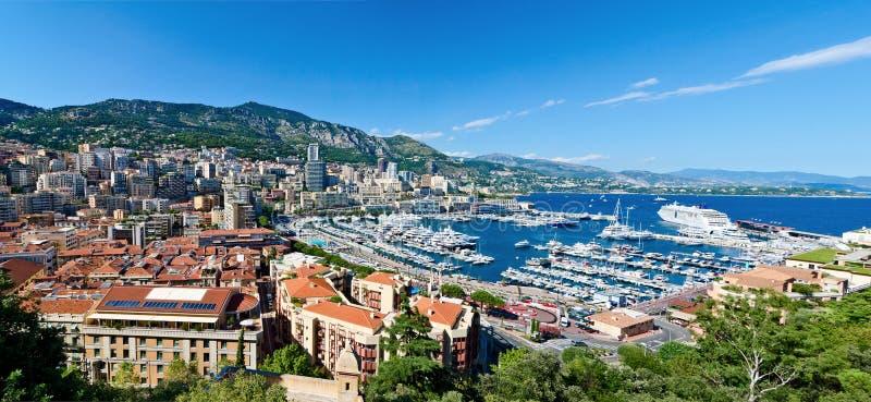 Vista sul porto della Monaco fotografia stock