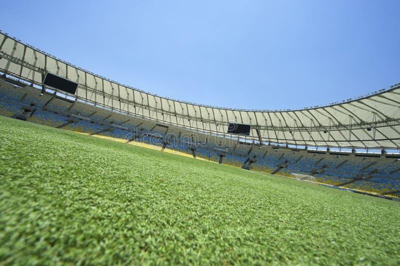 Vista sul terreno dello stadio di football americano di Maracana immagine stock