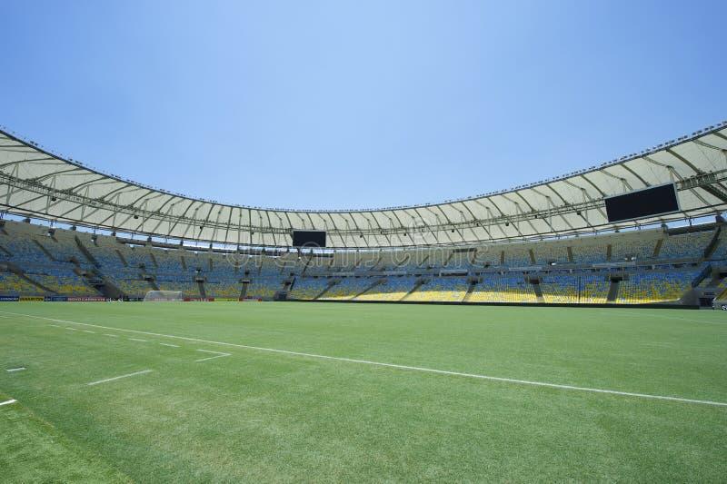 Vista sul terreno dello stadio di football americano di Maracana immagine stock libera da diritti