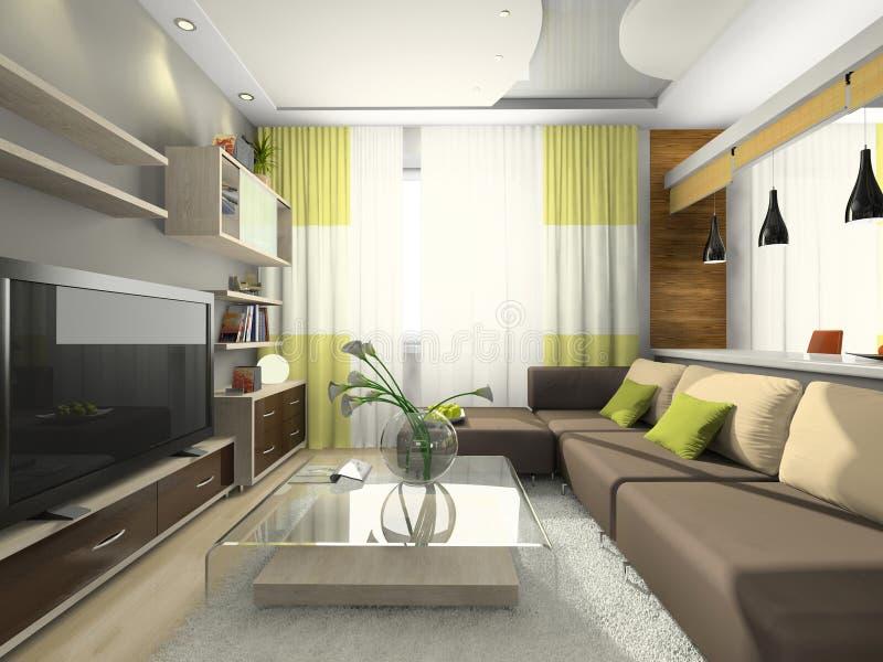 Vista sull 39 appartamento moderno illustrazione di stock for Mobilia arredamento 3d