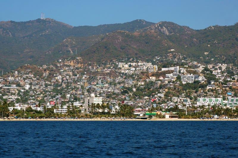 Vista sulla baia di Acapulco, Messico fotografia stock