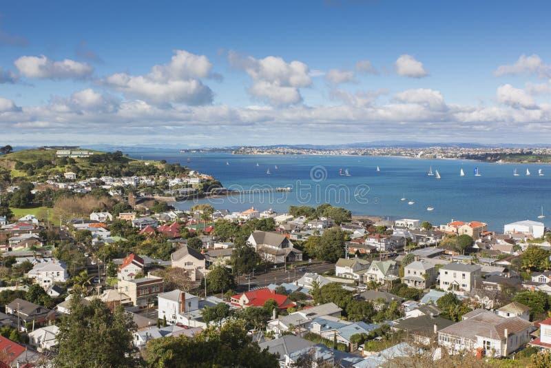 Vista sulla baia di Auckland fotografia stock libera da diritti