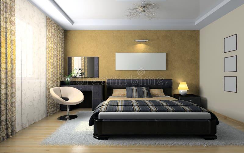 Vista sulla camera da letto alla moda illustrazione di stock