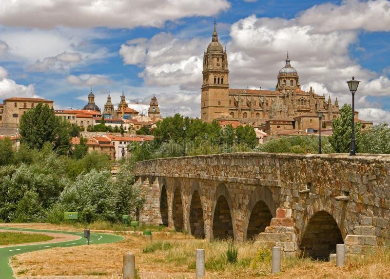 Vista sulla città di Salamanca, Spagna fotografia stock