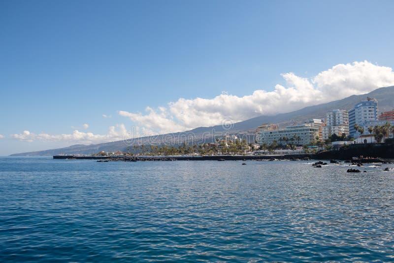 Vista sulla città su Tenerife immagine stock libera da diritti