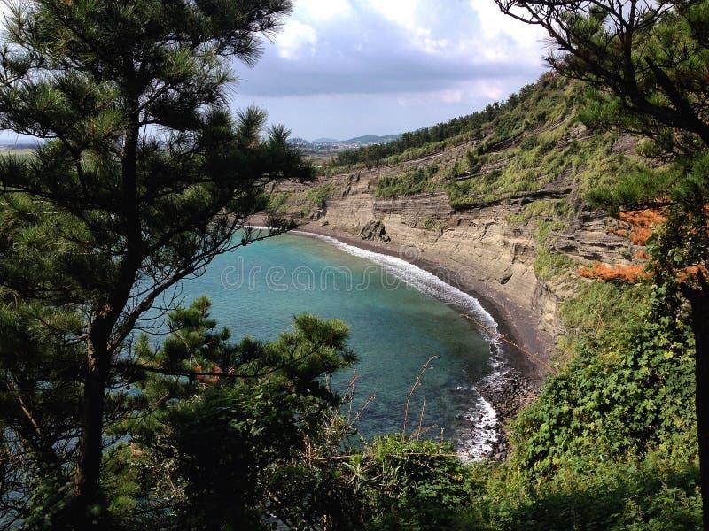 Vista sulla spiaggia immagini stock