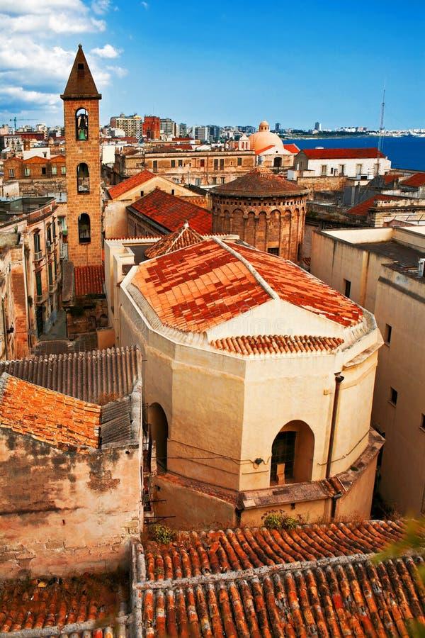 Vista sulla vecchia città di Napoli. L'Italia fotografie stock libere da diritti