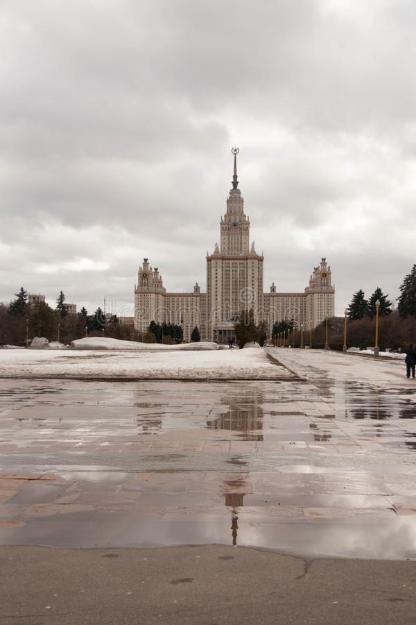 Vista sulle viste di Mosca fotografie stock