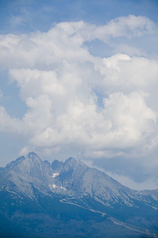 Vista sullo stit di Lomnicky in alto Tatras Montagne in Europa, Slovacchia fotografia stock