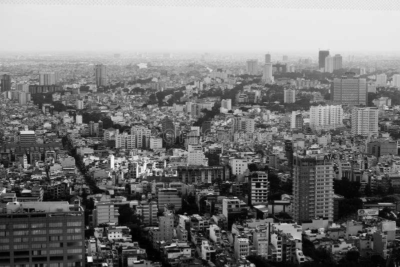 Vista superior da cidade de Ho Chi Minh em Vietname fotografia de stock royalty free