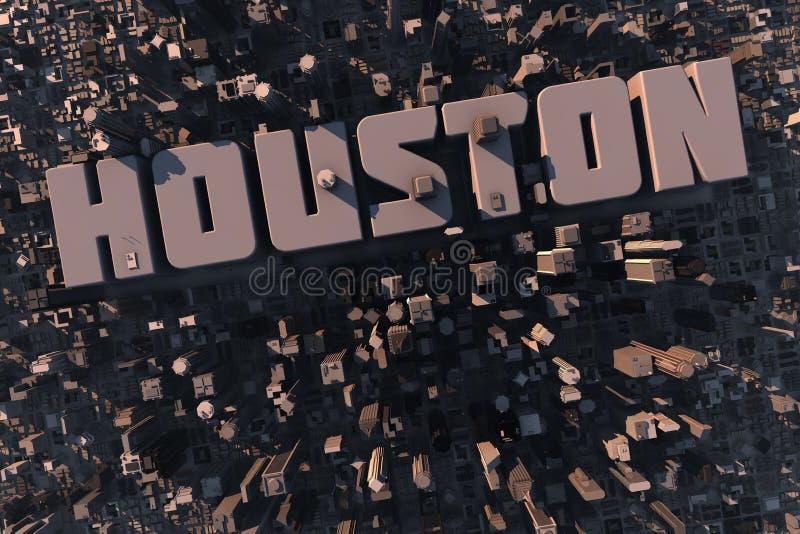 Vista superior da cidade urbana em 3D ilustração royalty free