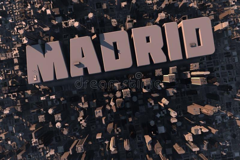 Vista superior da cidade urbana em 3D ilustração do vetor
