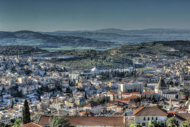 Vista superior da cidade velha - Nazareth fotografia de stock royalty free