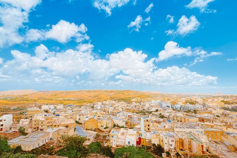 Vista superior da citadela, Ir-Rabat, Malta imagem de stock