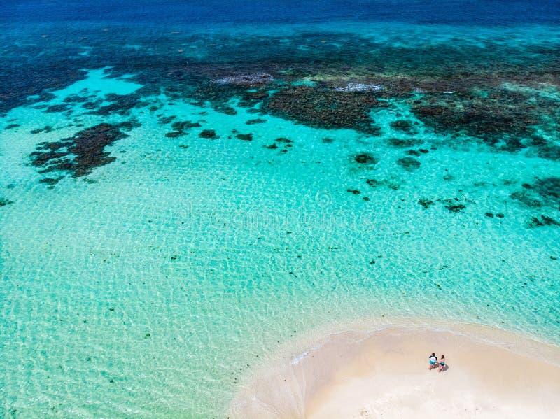 Vista superior da ilha das Caraíbas fotos de stock