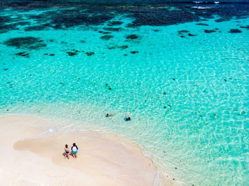 Vista superior da ilha das Caraíbas foto de stock royalty free