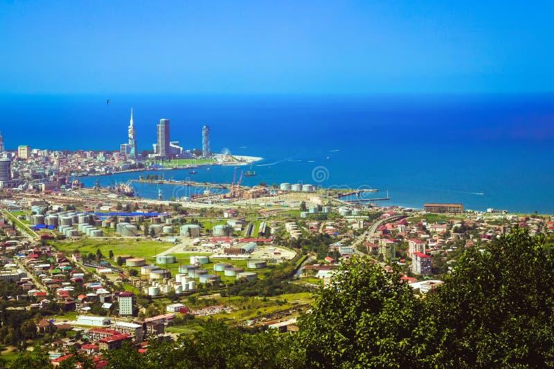 Vista superior da plataforma de observação na cidade de Batumi, Geórgia fotos de stock royalty free