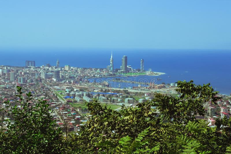 Vista superior da plataforma de observação na cidade de Batumi, Geórgia imagem de stock royalty free
