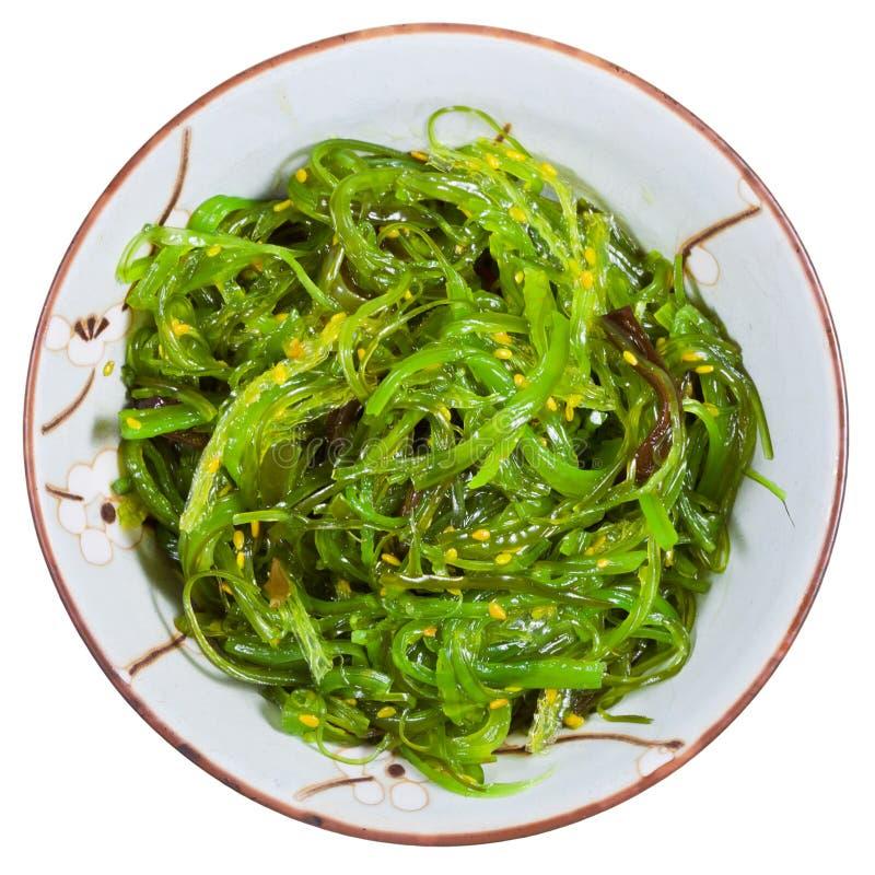 Vista superior da salada do chuka - salada da alga imagens de stock