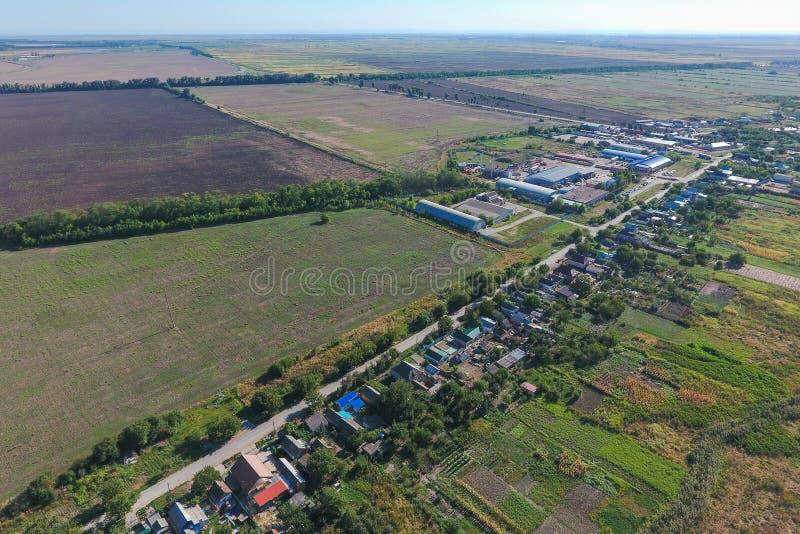 Vista superior da vila pequena imagem de stock royalty free