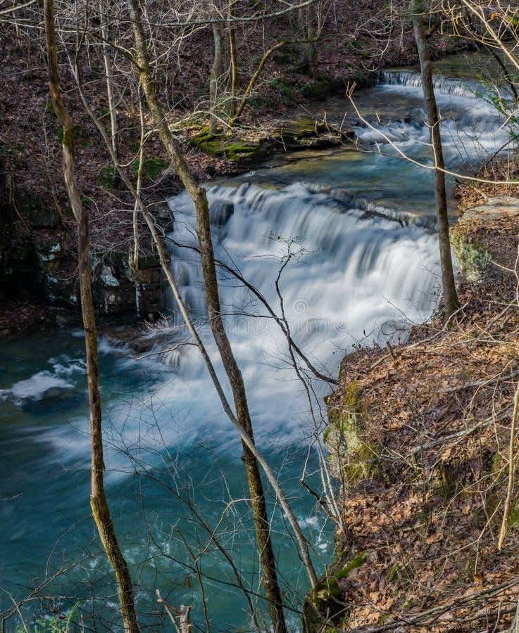 Vista superior das cachoeiras das minas de Fenwick fotos de stock