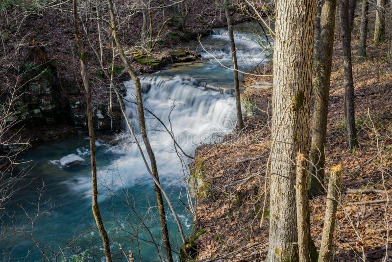 Vista superior das cachoeiras das minas de Fenwick - 2 imagem de stock royalty free