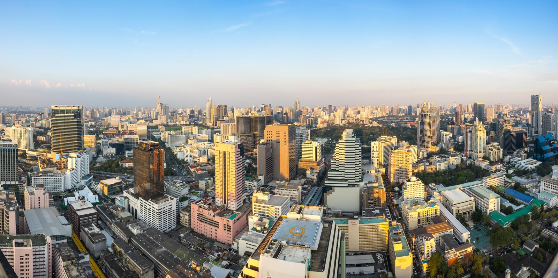 Vista superior de Bangkok fotografía de archivo