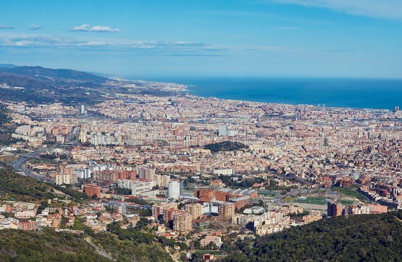 Vista superior de Barcelona, España fotografía de archivo libre de regalías