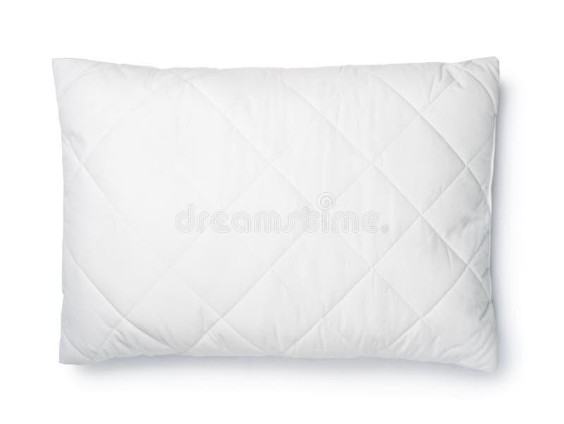 Vista superior de la almohada blanca del algodón fotografía de archivo