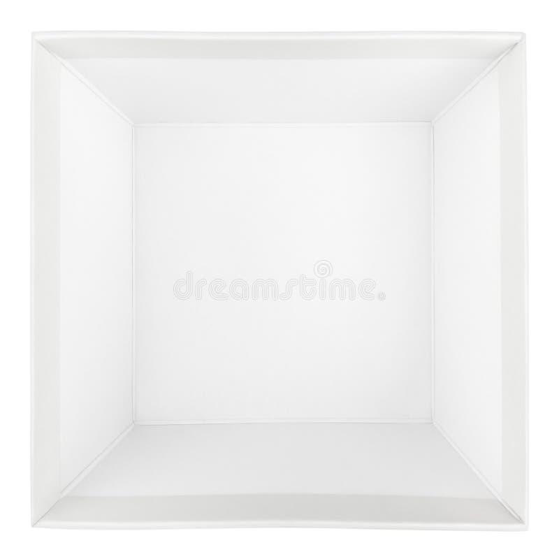 Vista superior de la caja cuadrada vacía foto de archivo libre de regalías