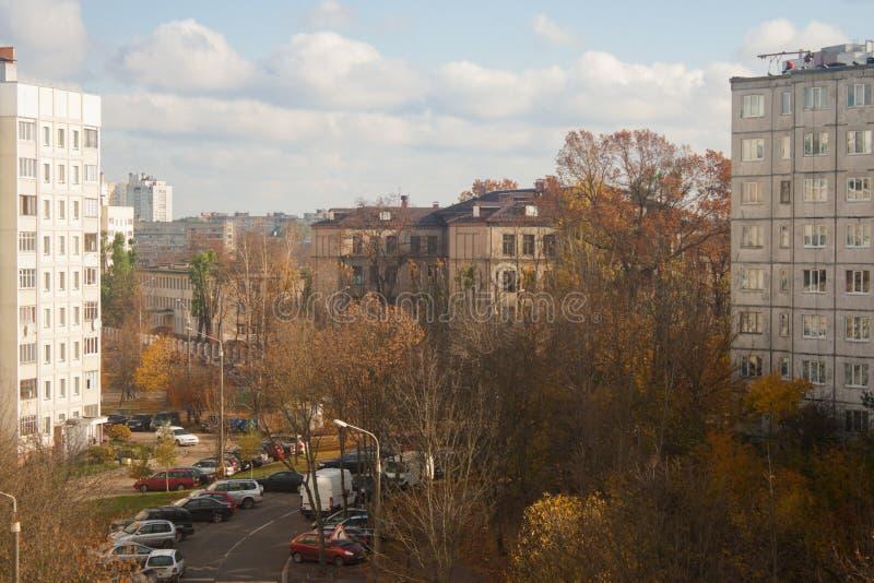 Vista superior de la calle local fotografía de archivo