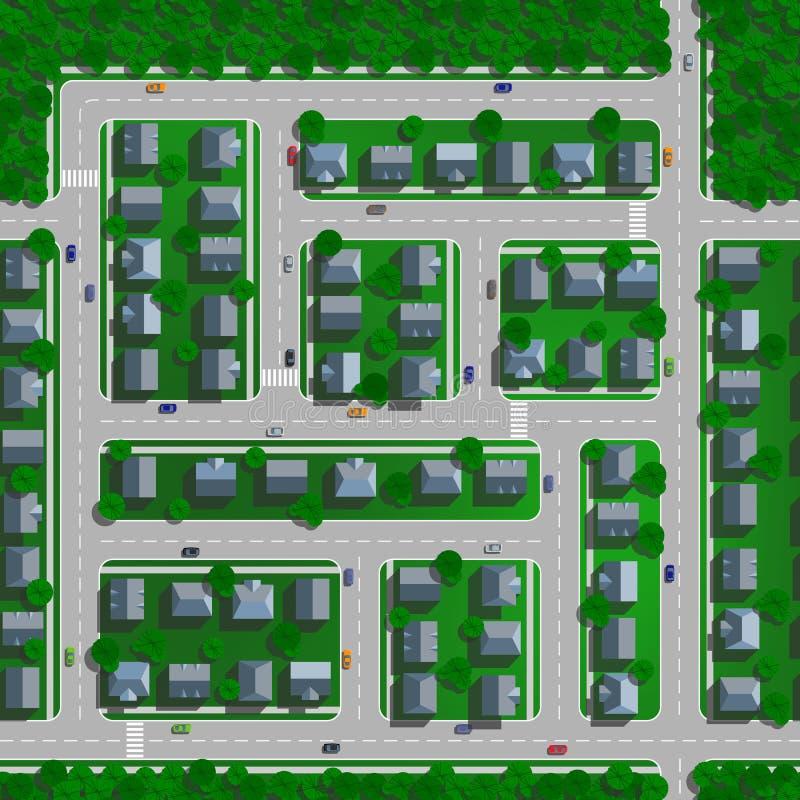 Vista superior de la ciudad imagen de archivo