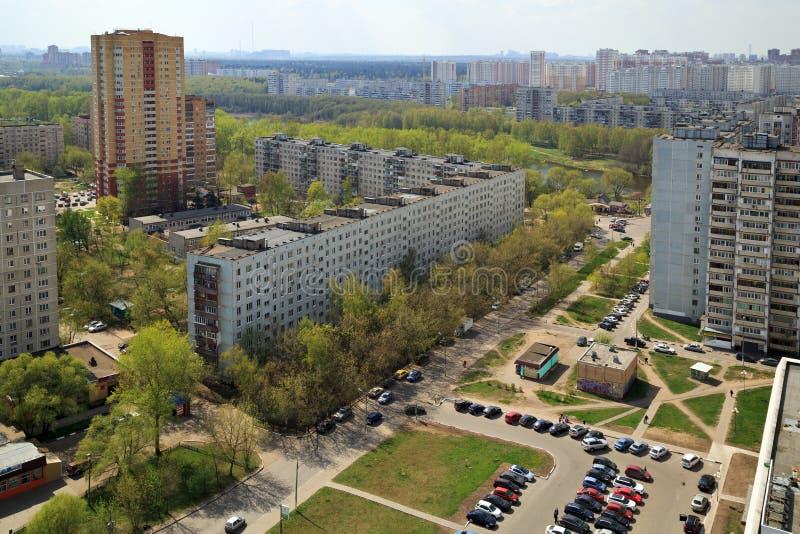 Vista superior de la ciudad Balashikha en la región de Moscú, Rusia imagen de archivo libre de regalías