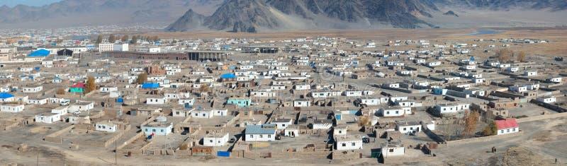 Vista superior de la ciudad mongol ordinaria imagen de archivo