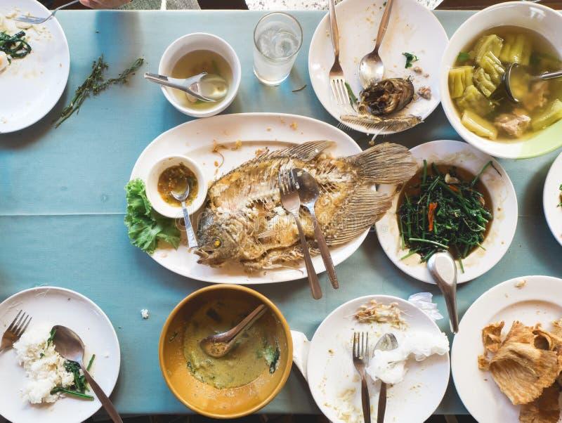 Vista superior de la comida tailandesa de la tradición imagen de archivo libre de regalías
