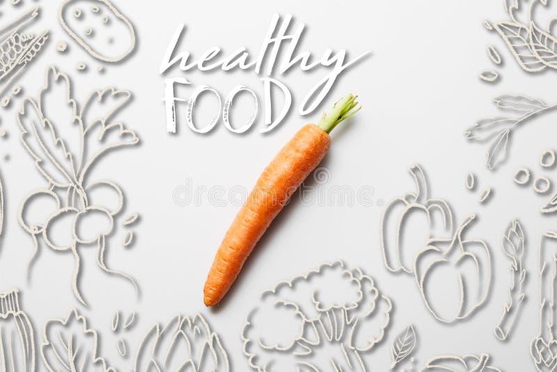 Vista superior de la deliciosa zanahoria madura imagenes de archivo