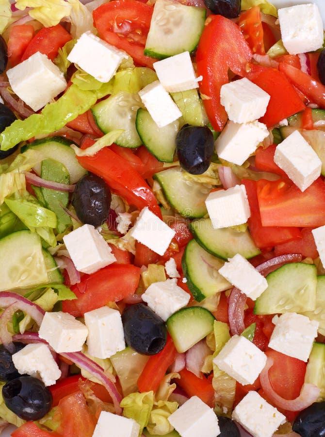 Vista superior de la ensalada griega foto de archivo libre de regalías
