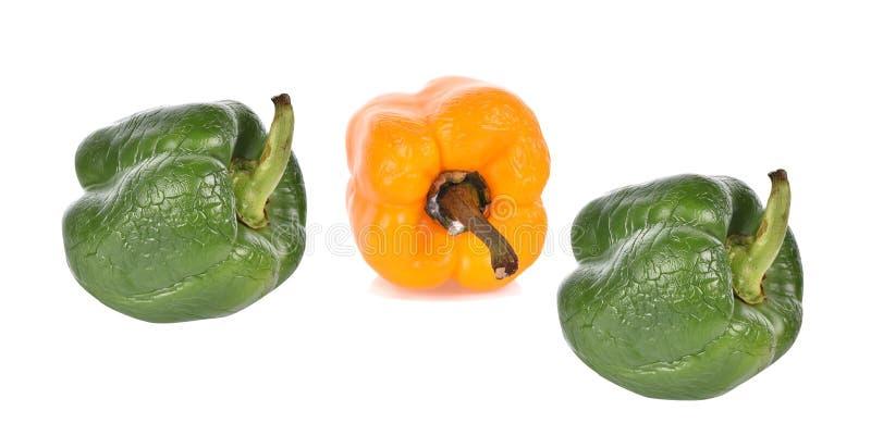 Vista superior de la fruta de la bergamota aislada en el fondo blanco imágenes de archivo libres de regalías