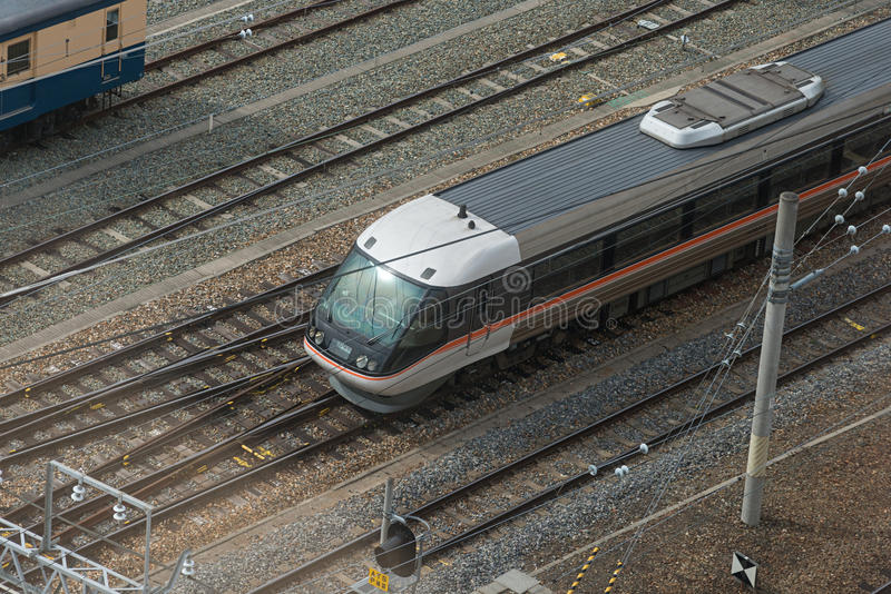 Vista superior de la opinión amplia limitada Shinano del tren expreso fotos de archivo