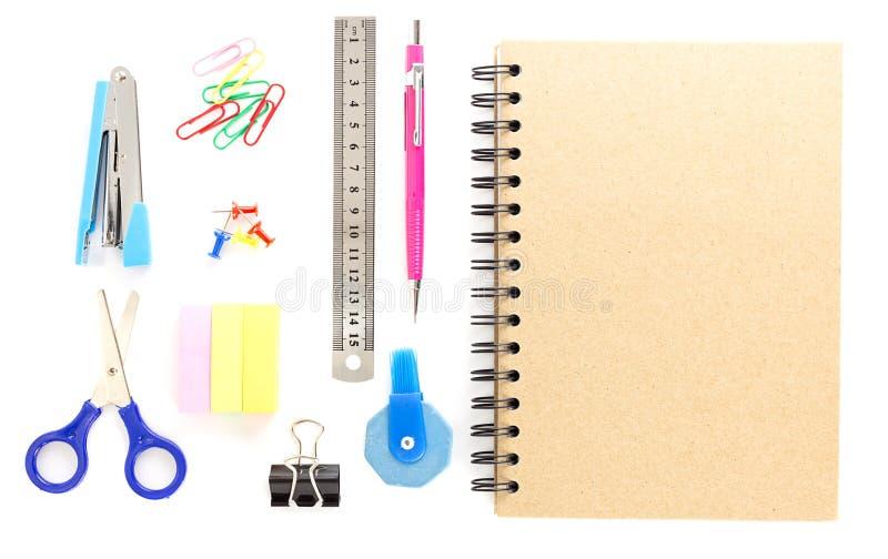 Vista superior de los objetos de los efectos de escritorio foto de archivo libre de regalías