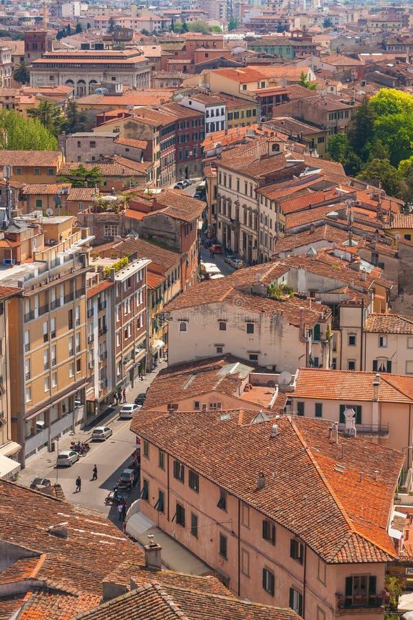 Vista superior de Pisa imagens de stock royalty free