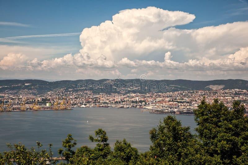 Vista superior de Trieste imagens de stock royalty free