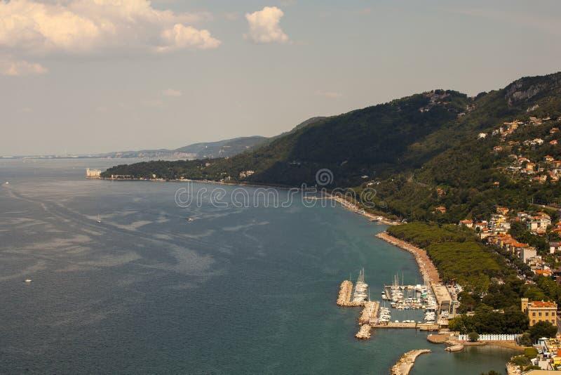 Vista superior de Trieste fotografía de archivo libre de regalías