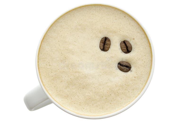 Vista superior de um café imagens de stock