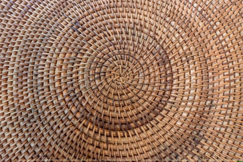 Vista superior del arte hecho a mano de la cestería de la rota imágenes de archivo libres de regalías