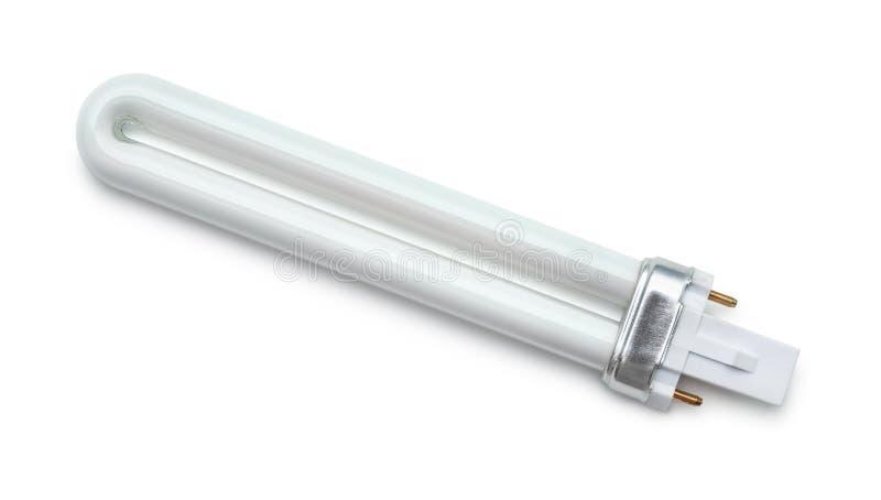 Vista superior del bulbo de la luz UV fotografía de archivo