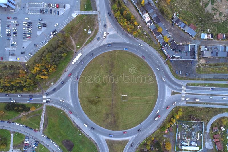 Vista superior del césped con geométrico imagen de archivo