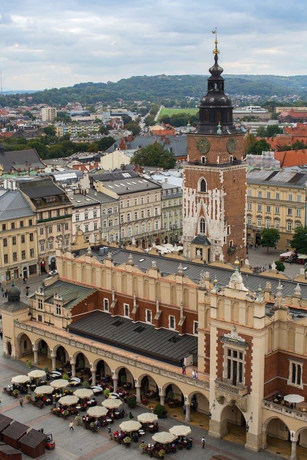 Vista superior del edificios históricos en el Sity viejo kraków fotografía de archivo
