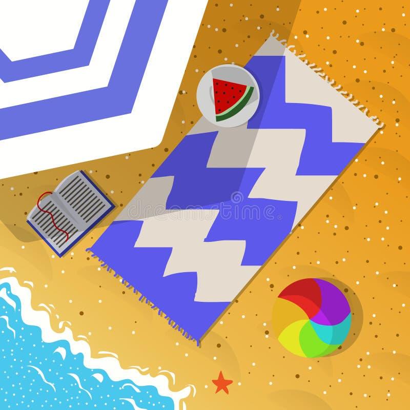 Vista superior del ejemplo del concepto de las vacaciones de verano foto de archivo libre de regalías