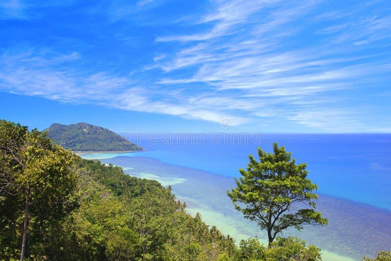 Vista superior del golfo Tailandia fotografía de archivo